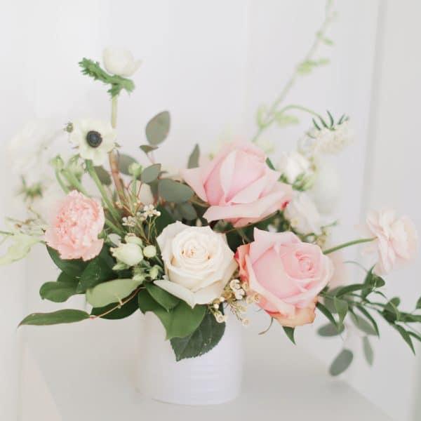 Blush Fresh Flower Centerpiece
